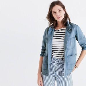 MADEWELL NEW French Workwear Chambray Denim Coat